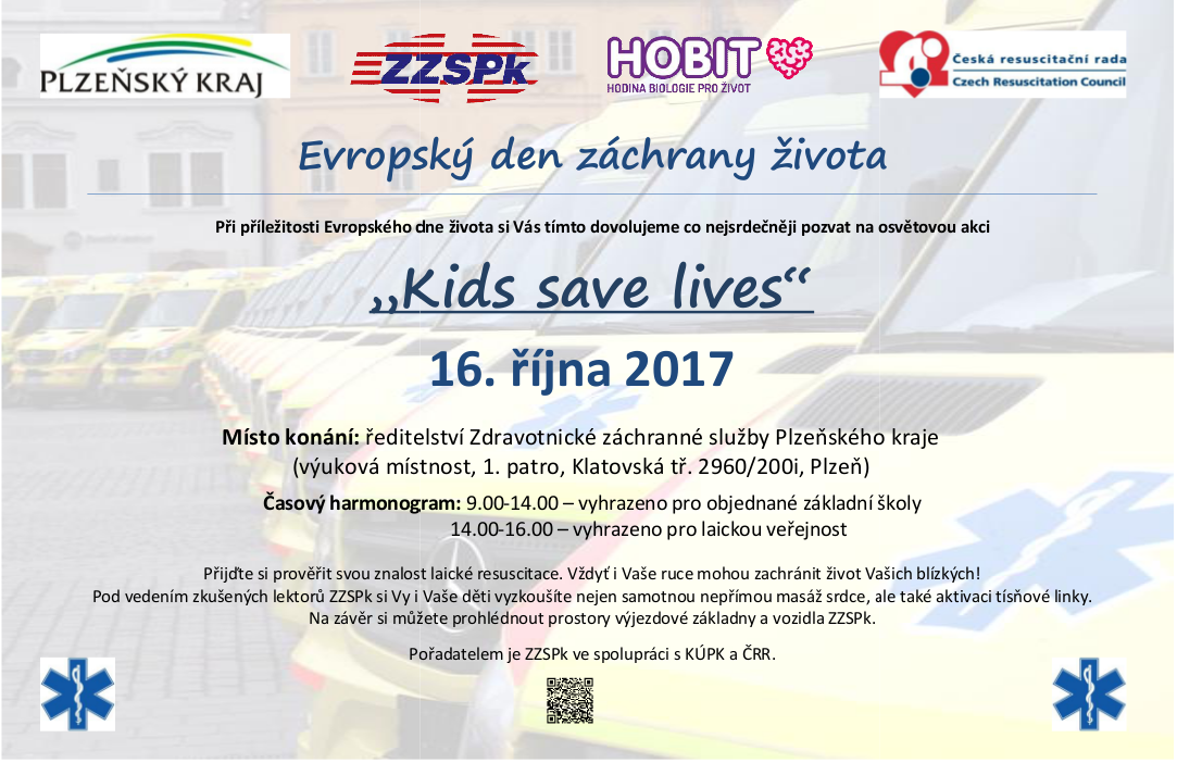 pozvanka Kids save lives